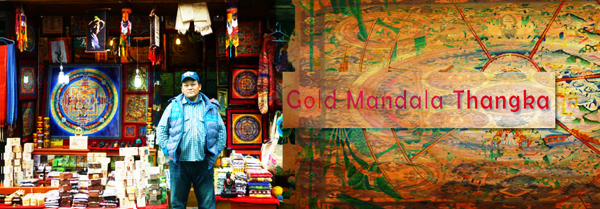 Gold Mandala Thangka - Art and Handicrafts - NepalB2B