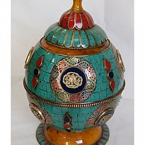 DECROATIVE TIBETAN POTS - Art and Handicrafts - NepalB2B