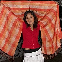 Check Pashmina Shawls - Apparel and Garments - NepalB2B