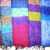 Colorful warm woolen shawl - Apparel and Garments - NepalB2B