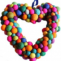 Felt Heart Balls - Art and Handicrafts - Home Supplies and Services - NepalB2B